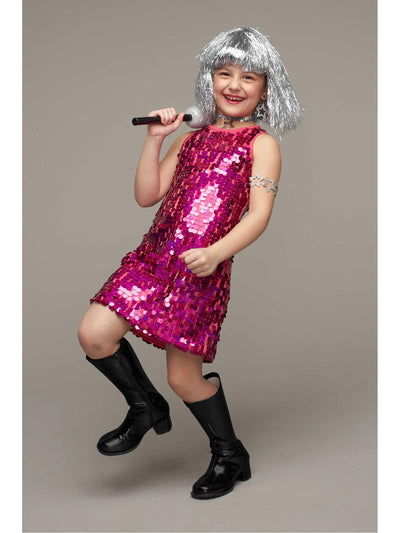 Hot Pink Pop Star Costume for Girls