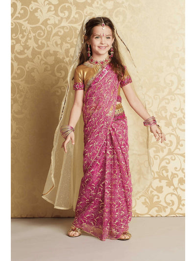 Indian Maharani Princess Costume for Girls  pin alt1