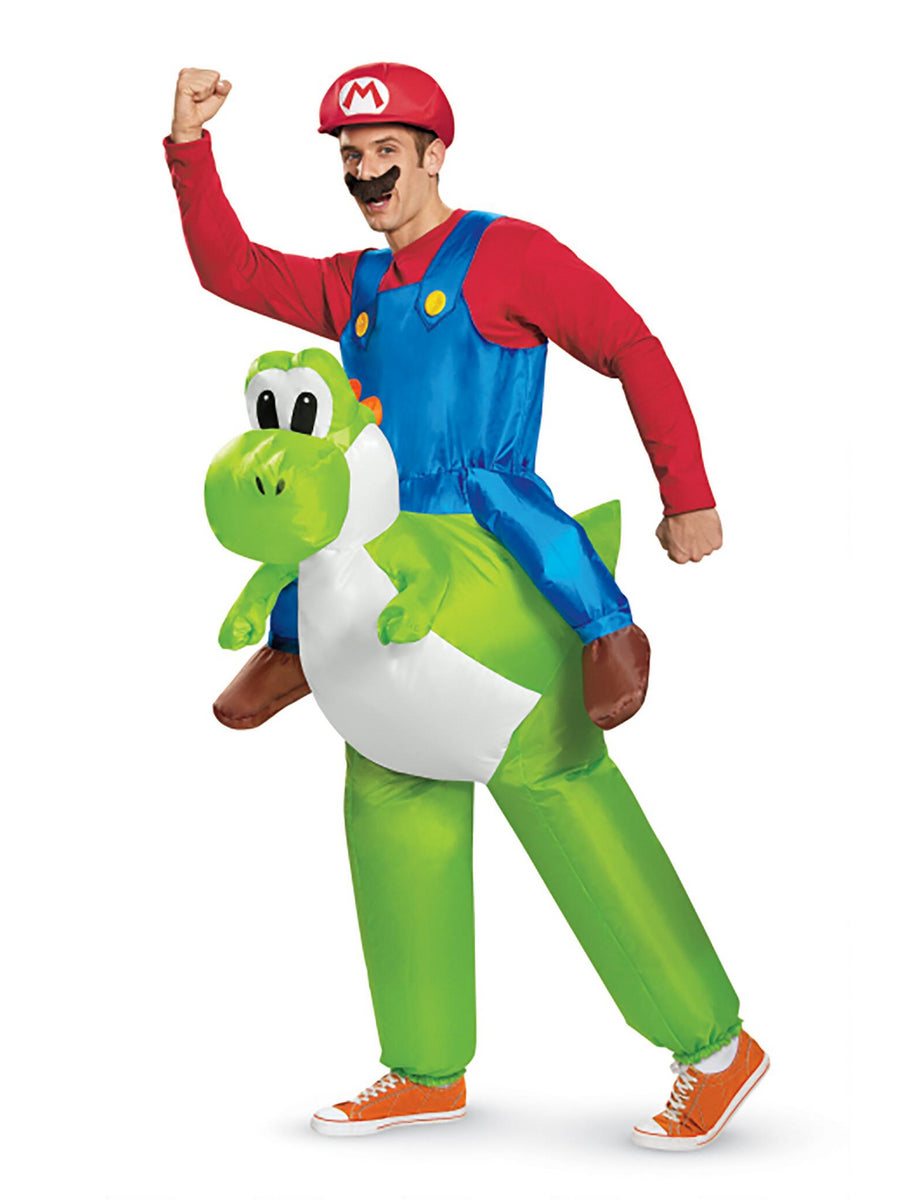 Inflatable Mario Riding Yoshi Costume for Adults