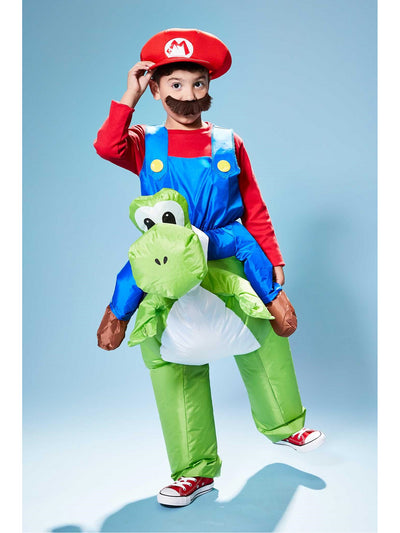 Inflatable Mario Riding Yoshi Costume for Kids