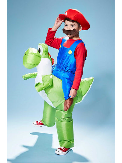 Inflatable Mario Riding Yoshi Costume for Kids  blu alt1