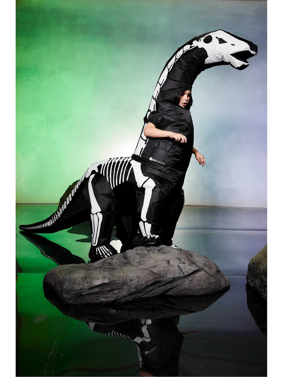 Inflatable Skeleton Dinosaur Costume for Kids