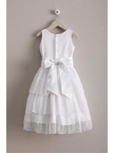 Isabel Garreton Girls Beaded Pearls Dress  whi alt2