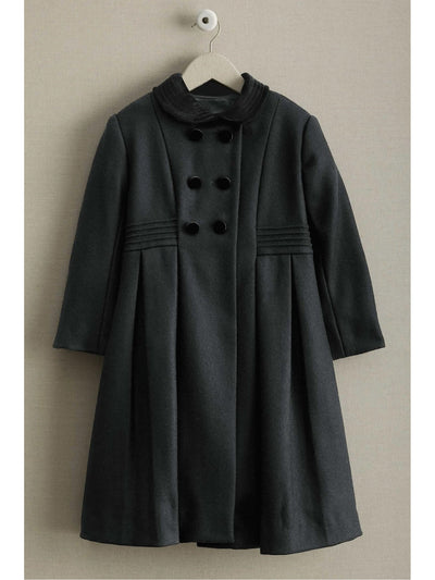 Isabel Garreton Girls Velvet Collar Coat