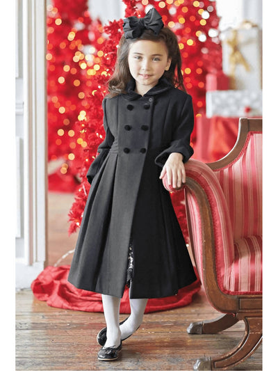 Isabel Garreton Girls Velvet Collar Coat  bla alt1