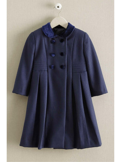 Isabel Garreton Girls Velvet Collar Coat  nav 1