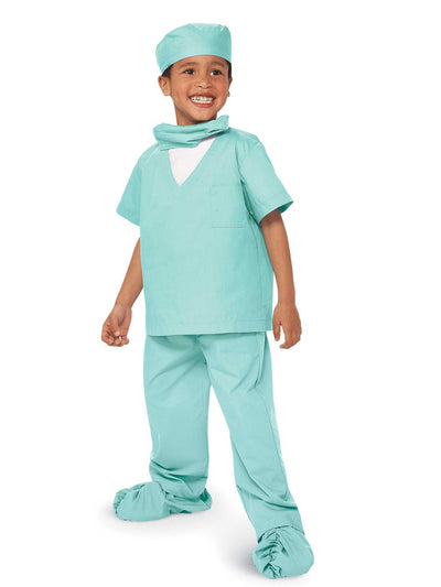 Jr. Doctor Scrubs Costume For Kids  green 1
