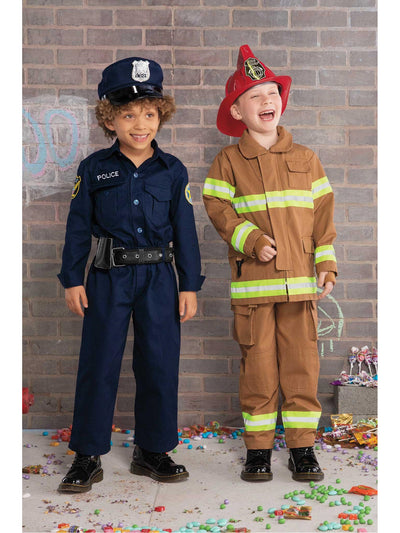 Jr. Firefighter Costume for Kids  tan alt1