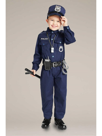 Jr. Police Officer Costume For Kids  blu alt1