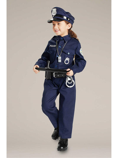 Jr. Police Officer Costume For Kids  blu alt2