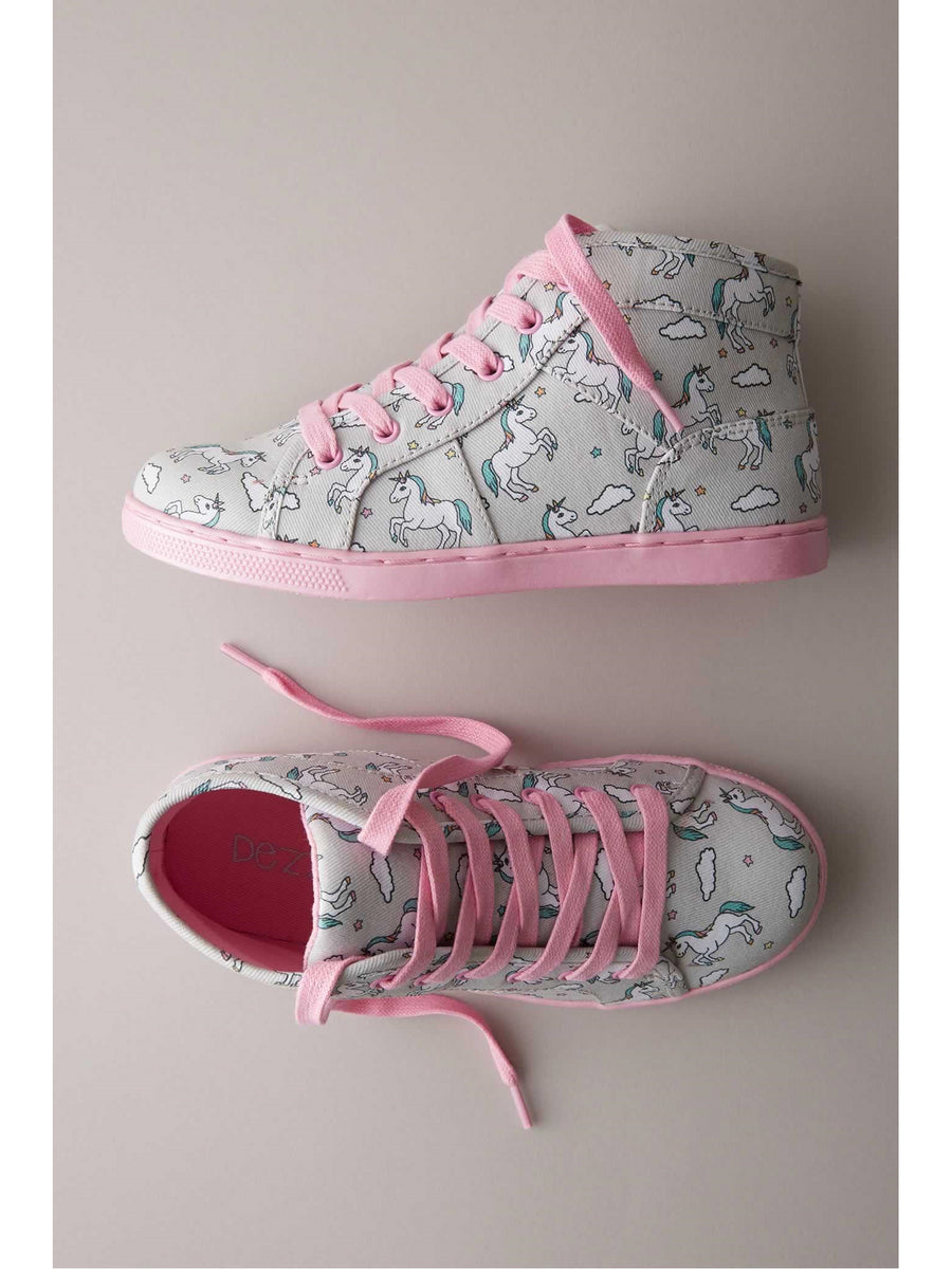 Kids Unicorn High-Top Sneakers