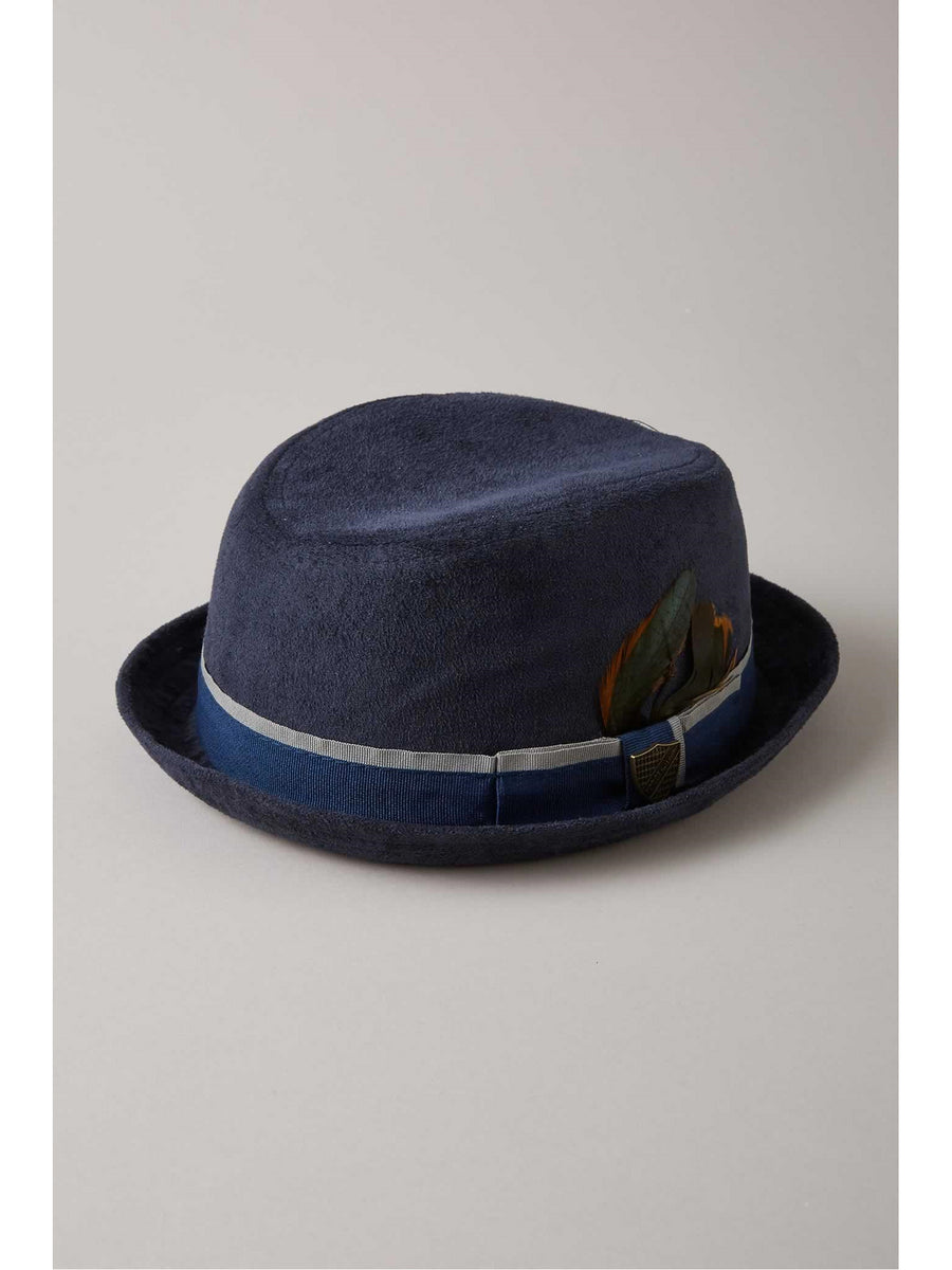 Kids Blue Suede Fedora