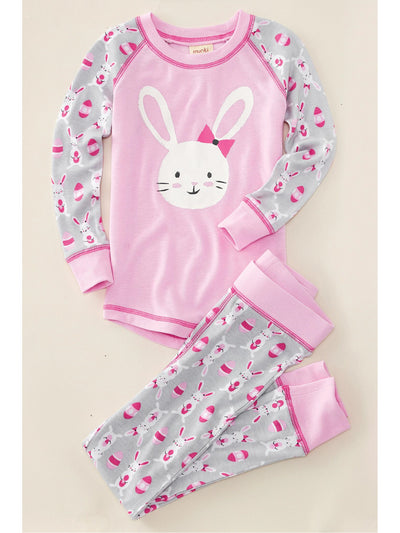 Kids Bunnies & Eggs PJ's  pin 1
