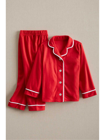 Kids Classic Red Microfleece PJ's