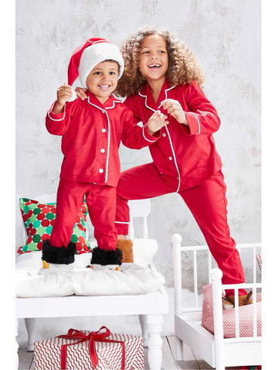 Kids Classic Red Microfleece PJ's  red alt1