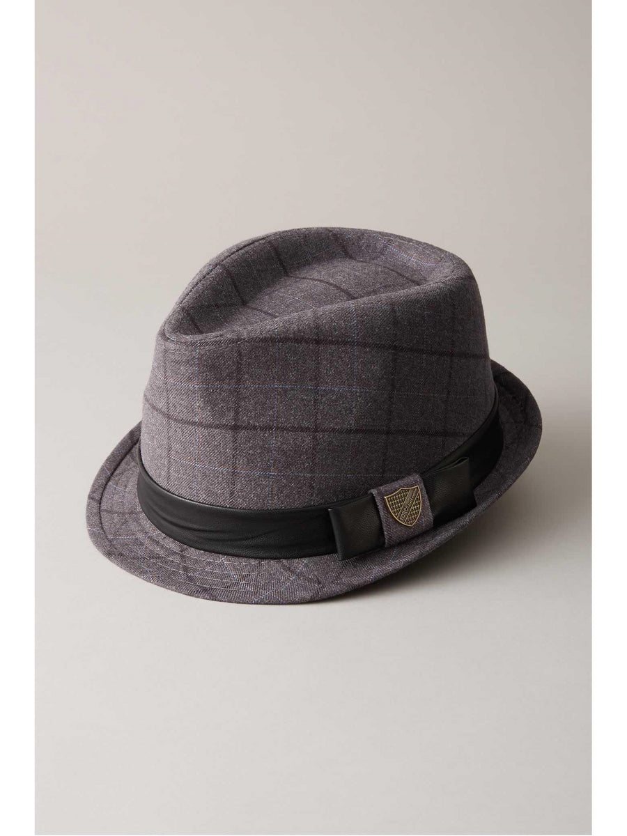 Kids Club Plaid Fedora