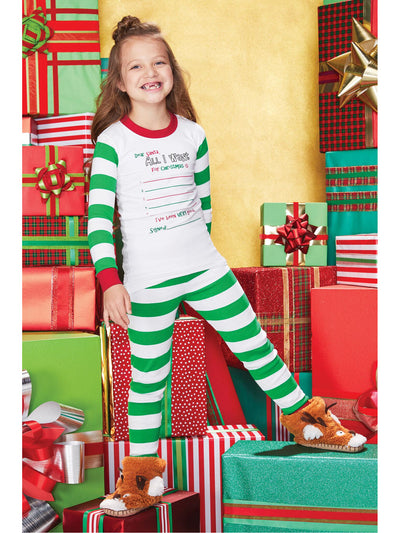Kids Color Me Dear Santa PJ's
