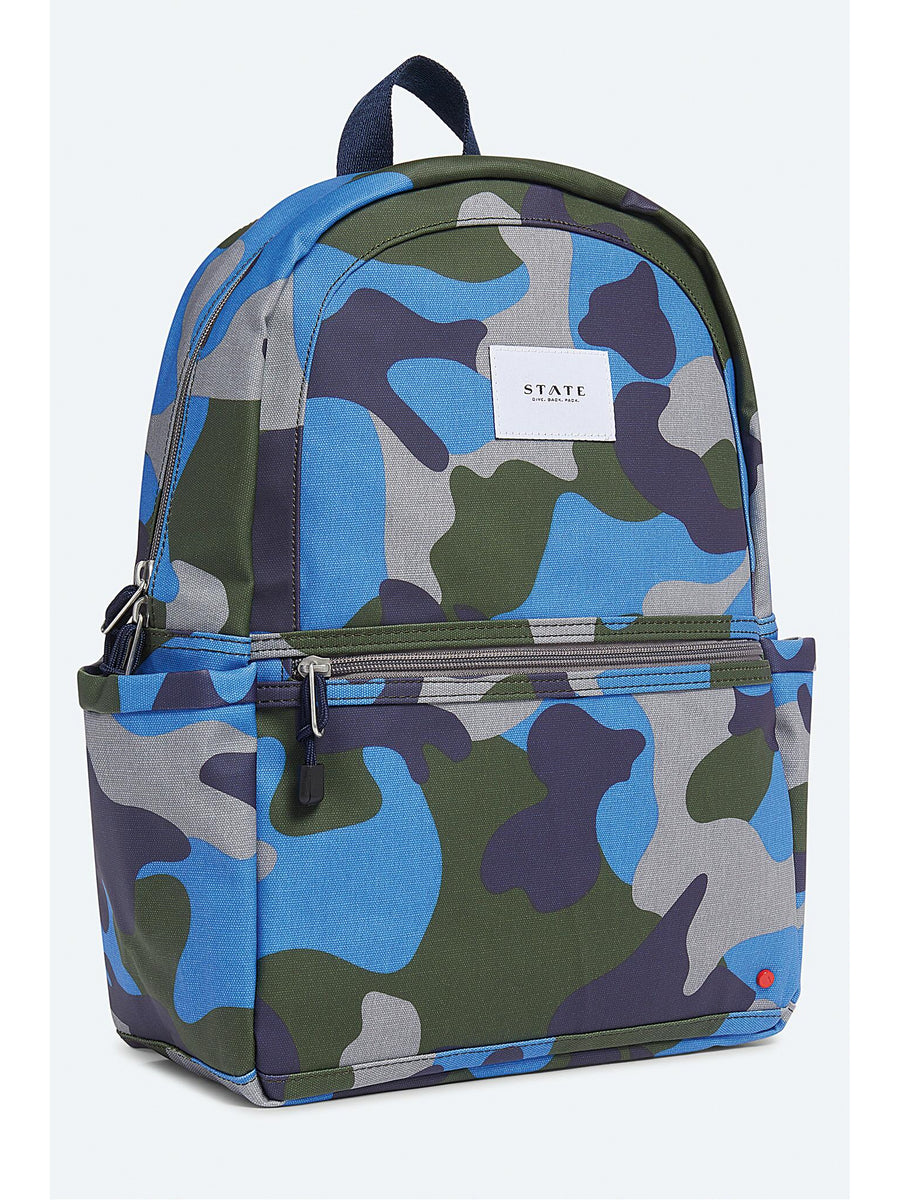 Kids Cool Blue Camo Backpack