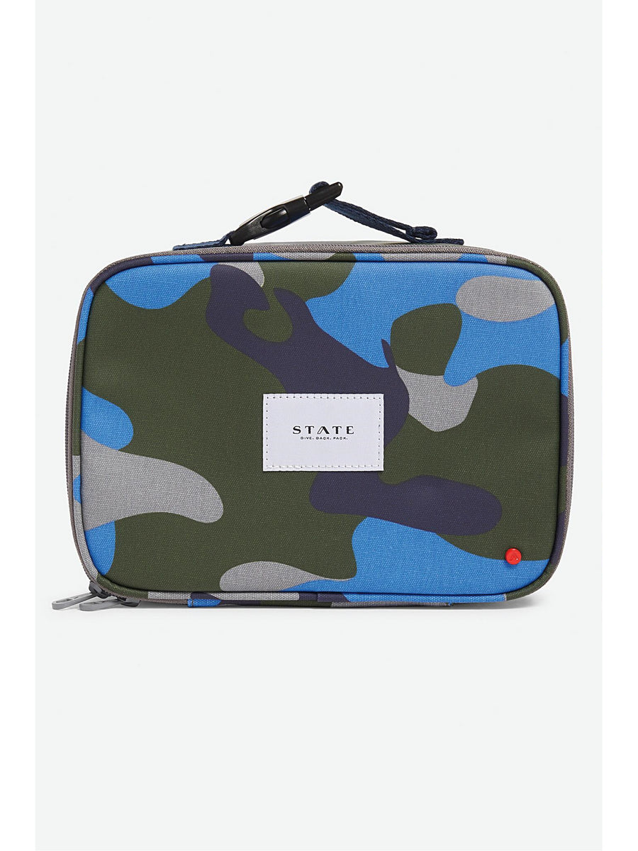 Kids Cool Blue Camo Lunch Bag