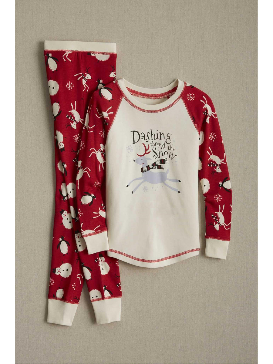 Kids Dashing Reindeer Pj's