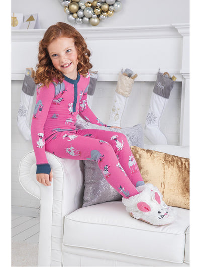 Kids Doggie Dreams PJ's  pink alt1