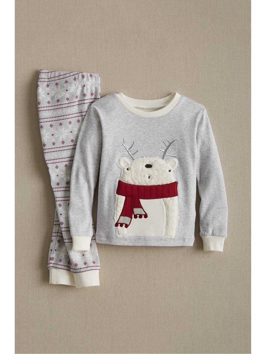 Kids Fair Isle Polar Bear Pj's