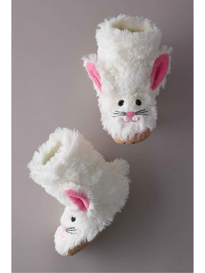 Kids Fluffy Bunny Slippers