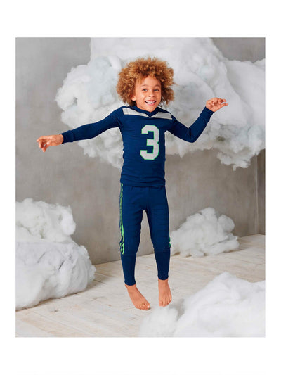 Kids Football PJ's  blu alt1