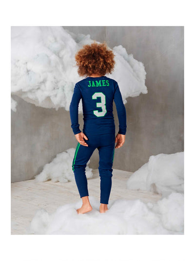 Kids Football PJ's  blu alt2