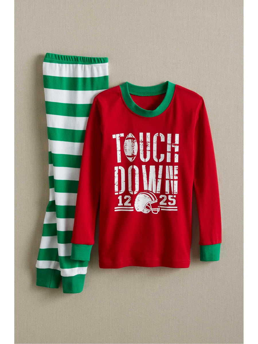 Kids Holiday Touchdown PJ's