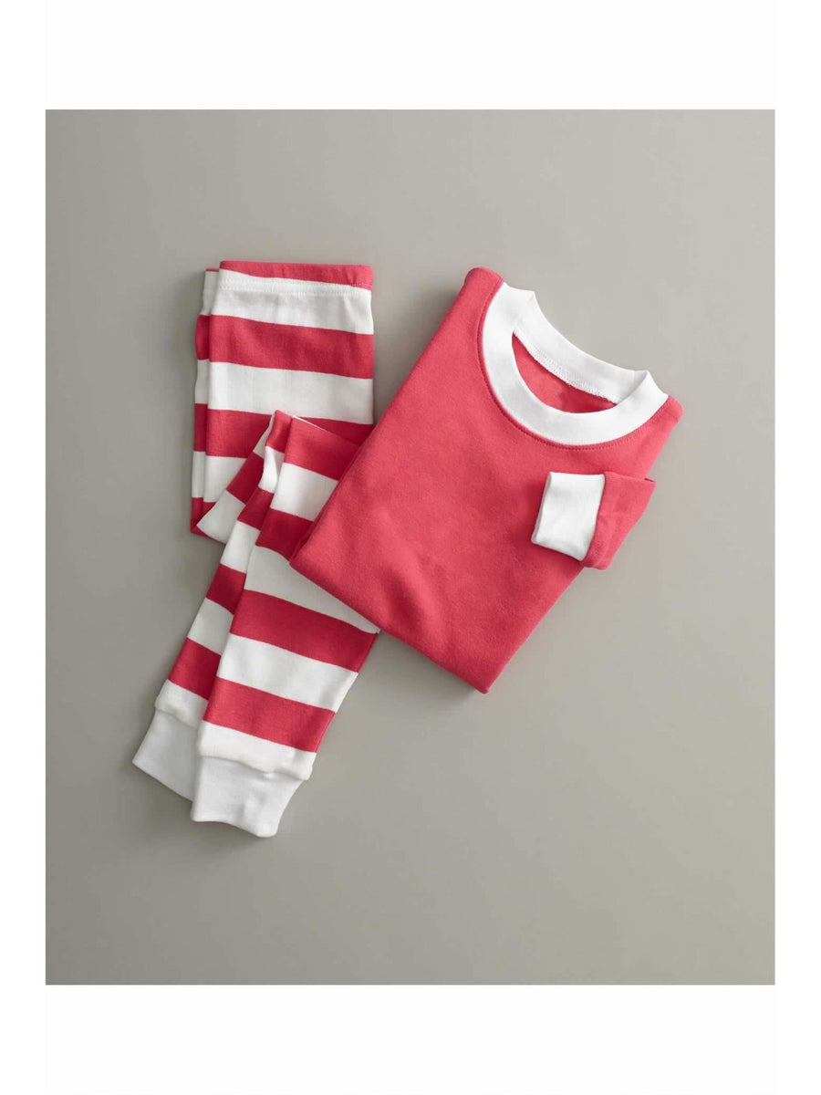 Kids Hot Pink Candy Stripe PJ's