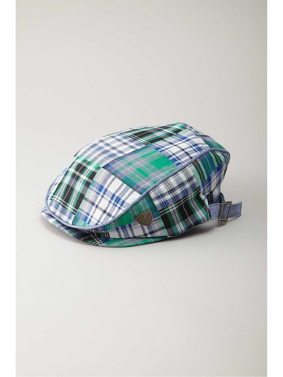 Kids Madras Plaid Cap