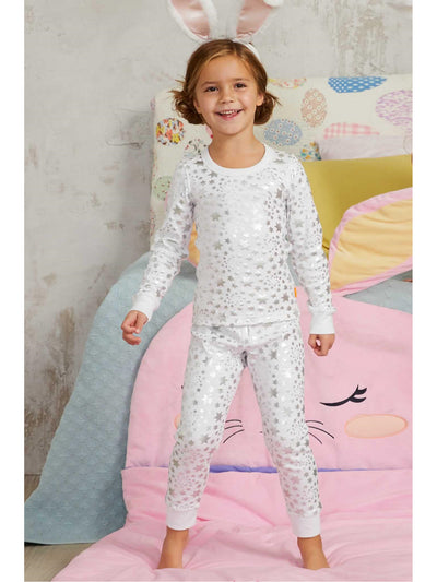 Kids Metallic Star Pj's  whi alt1