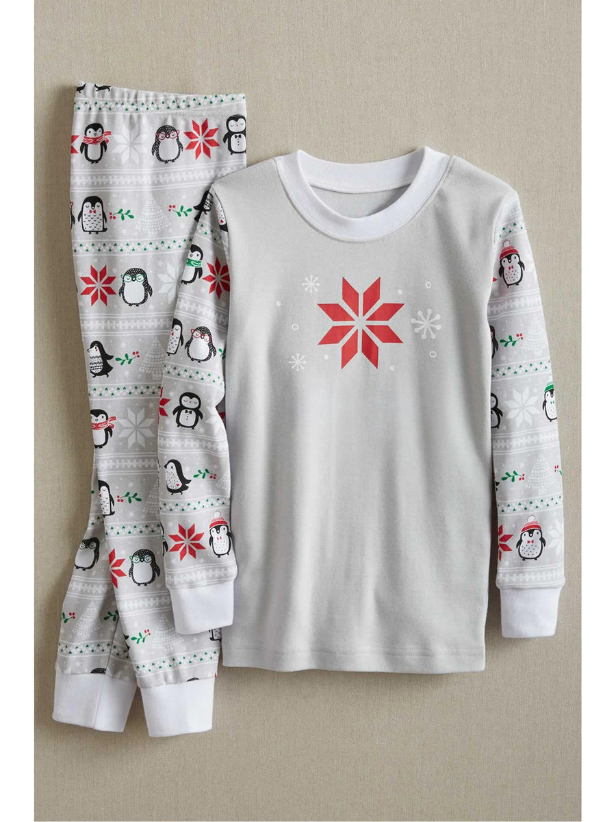 Kids Penguins in Snow PJ's