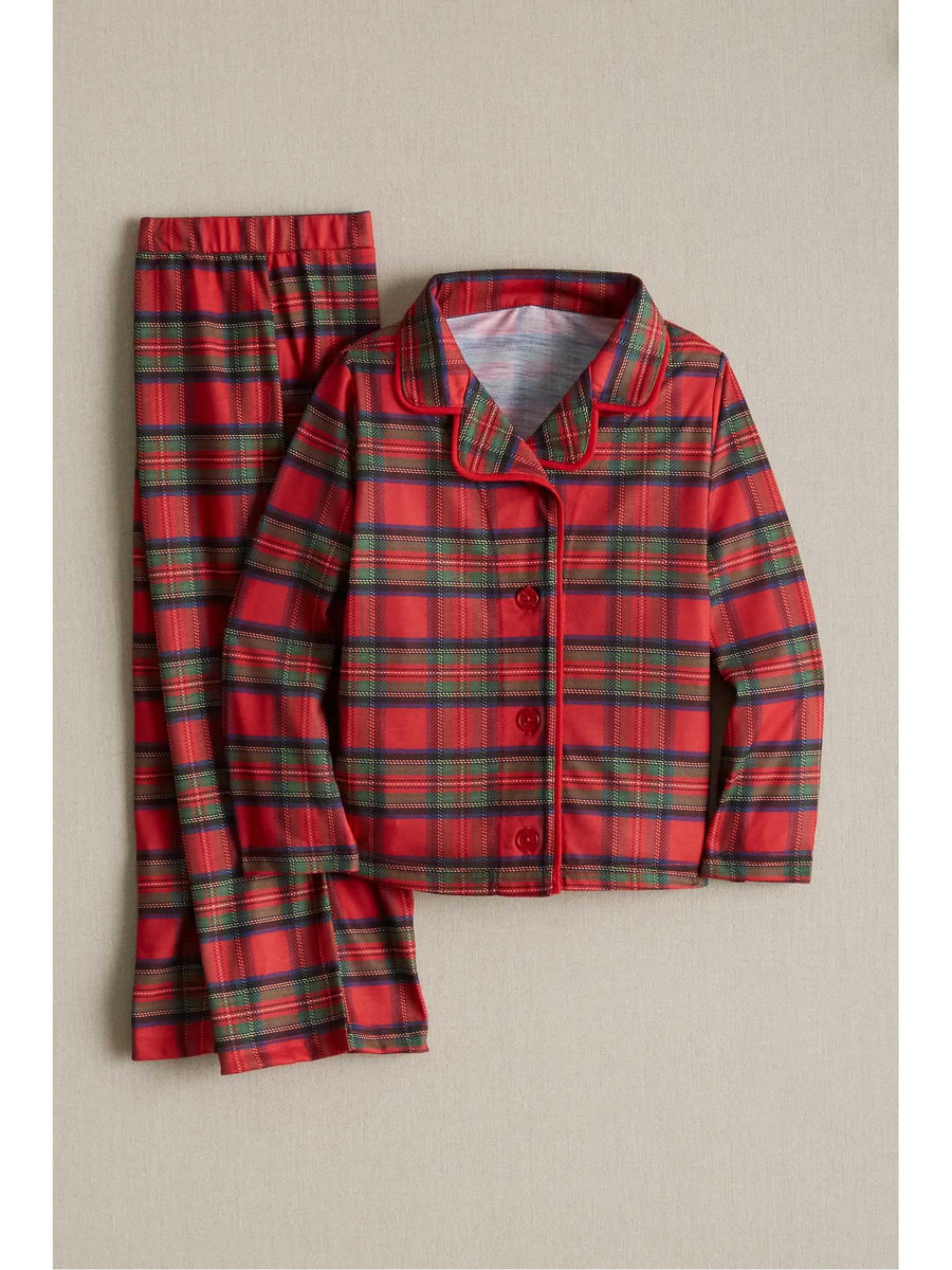 Kids Plaid Knit Pj's