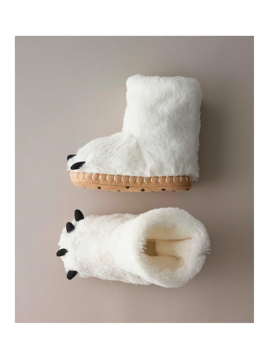 Kids Polar Bear Paw Slippers