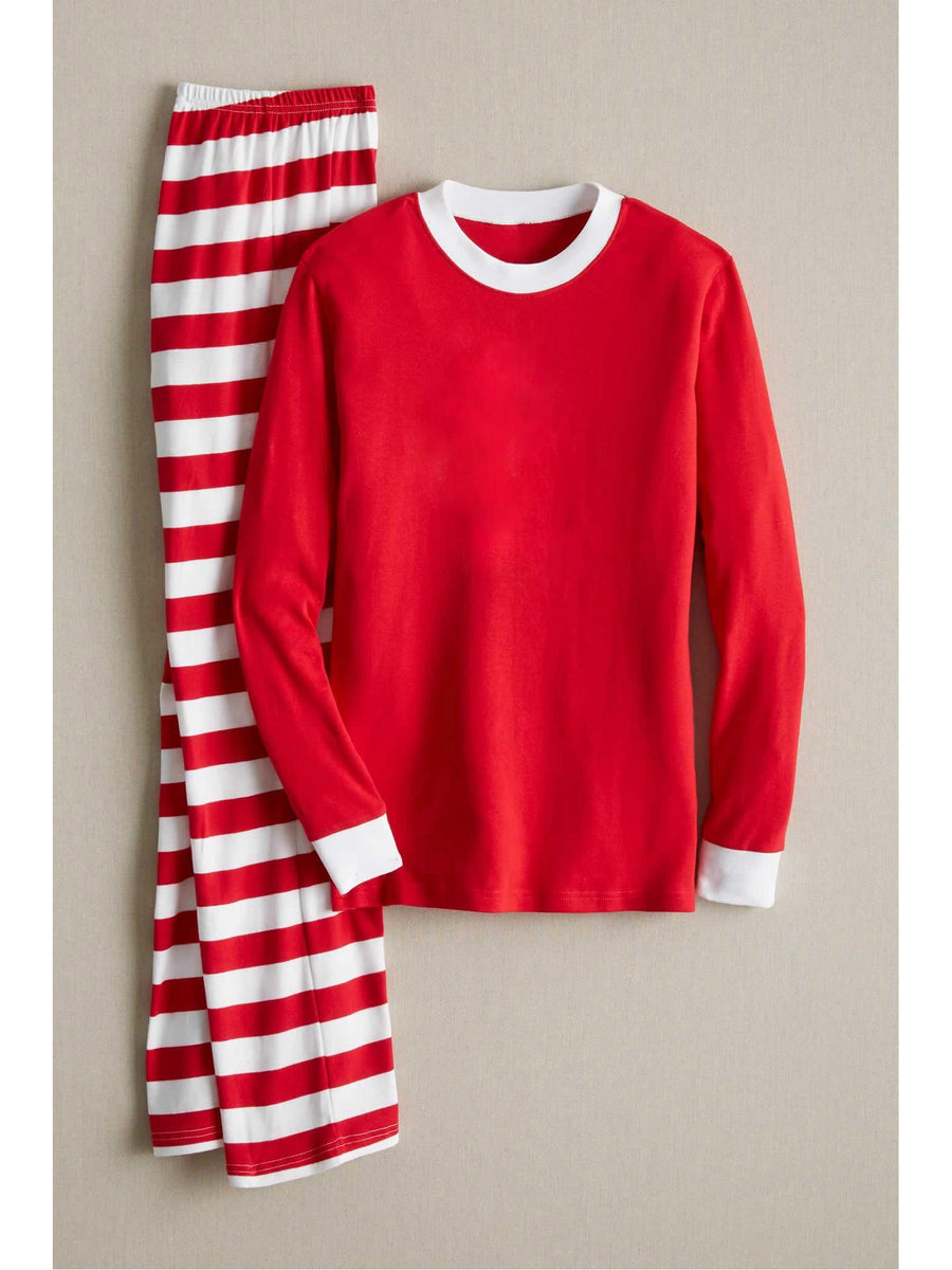 Kids Red & White Stripe PJs