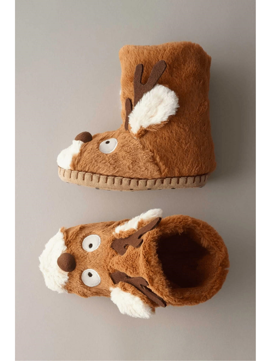 Kids Reindeer Slippers