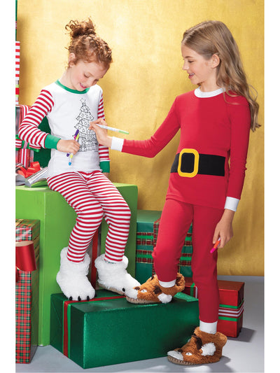 Kids Santa PJ's  red alt1