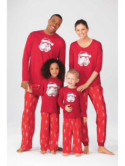 Kids Santa Storm Trooper PJ's  red alt1
