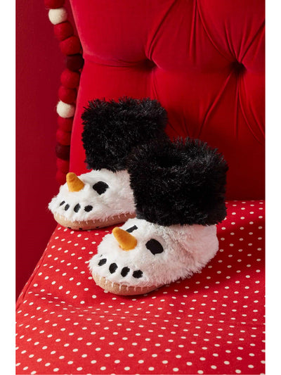 Kids Snowman Slouch Slippers
