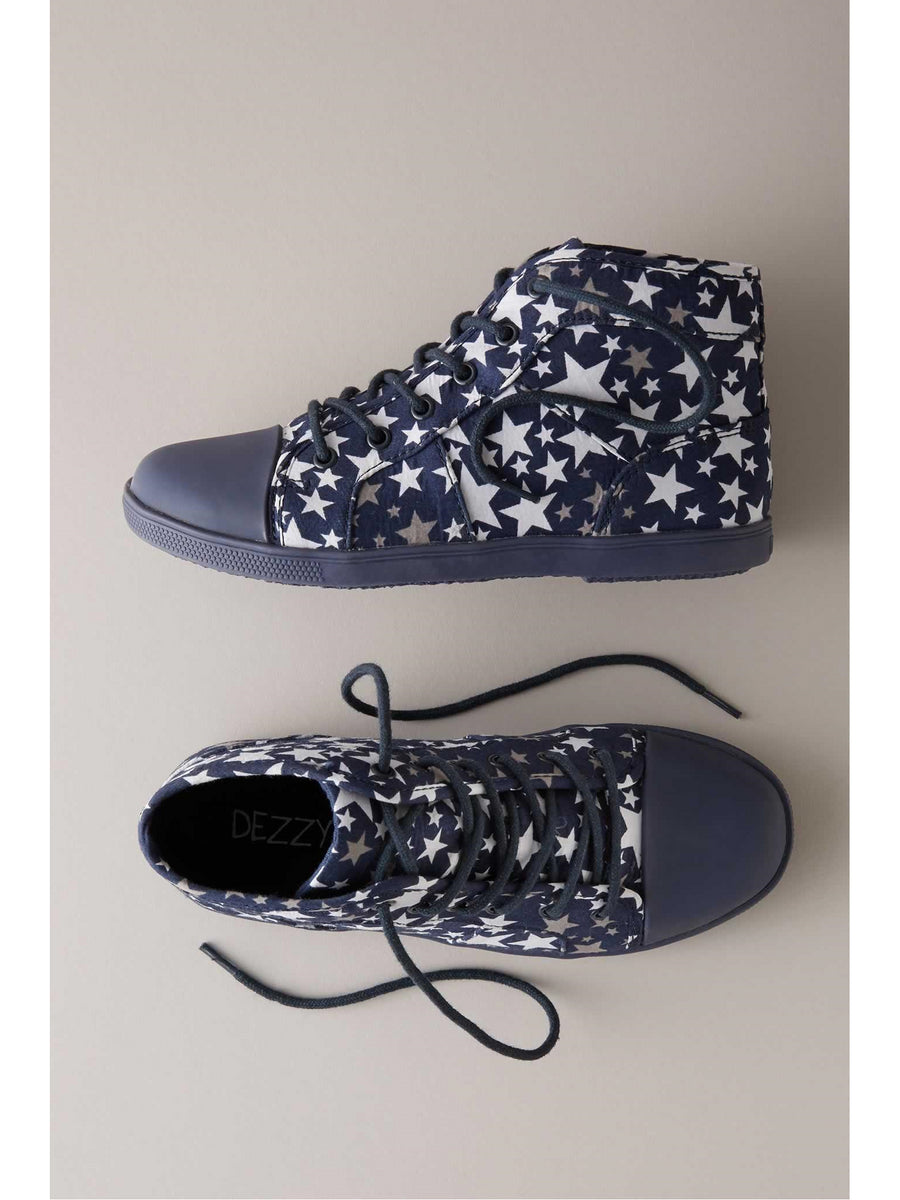 Kids Starry High-Top Sneakers