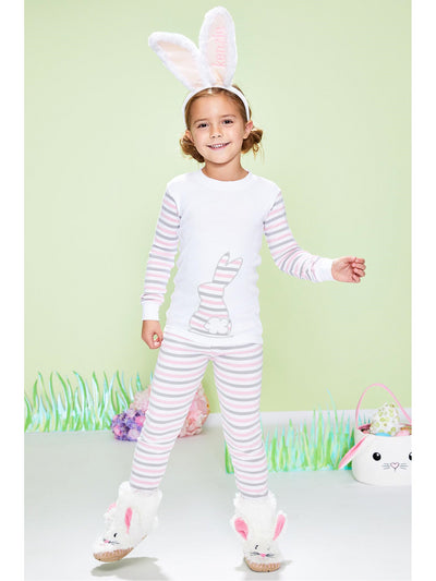Kids Striped Bunny PJ's  pin 1