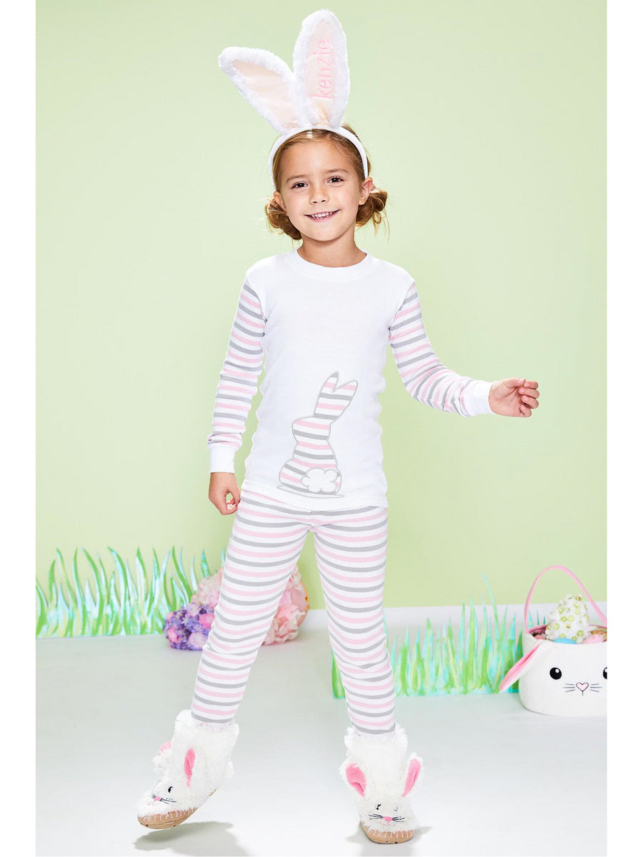 Kids Striped Bunny PJ's