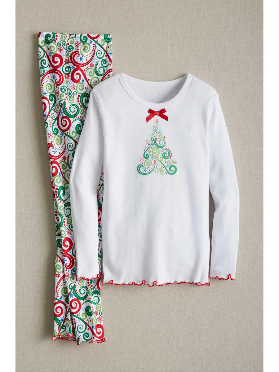 Kids Swirly Tree Pj's