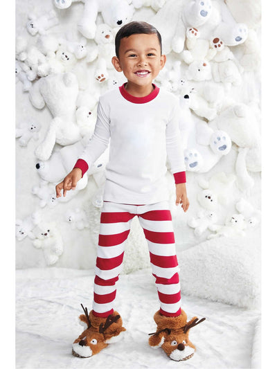 Kids White & Red Striped PJ's  red alt1