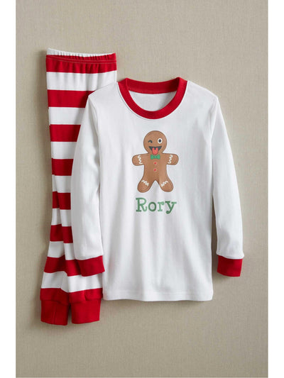 Kids White & Red Striped PJ's  red alt2