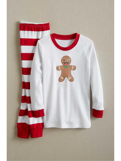 Kids White & Red Striped PJ's  red alt3