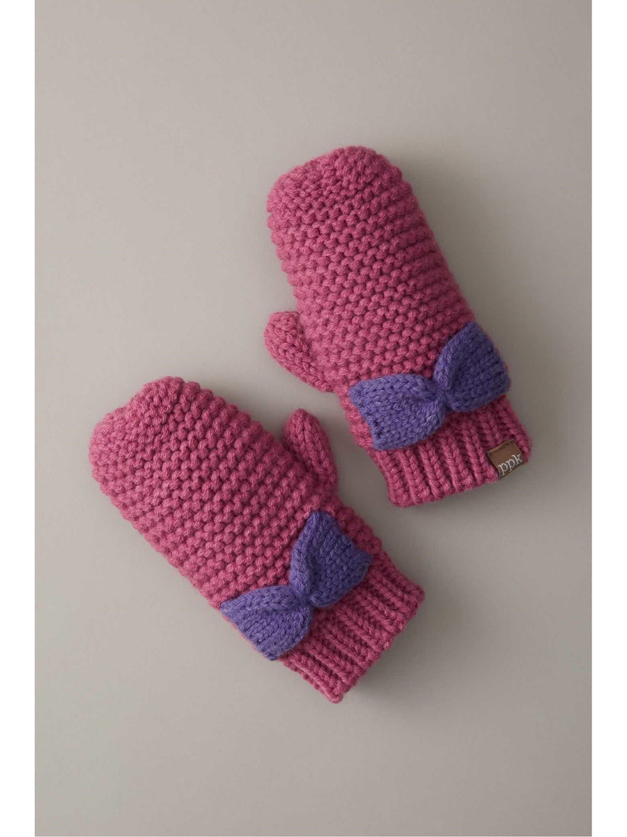 Knit Bow Mittens
