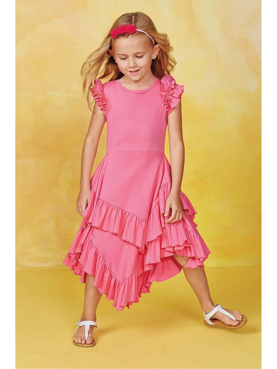 Lemon Loves Lime Girls Spring Flair Dress Set